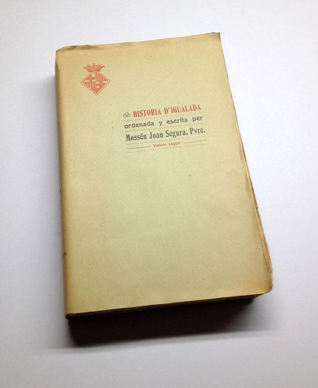 Llibre original propietat d'Isidre Quintana